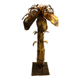 Vintage French Maison Jansen Palm Tree Lamp For Sale