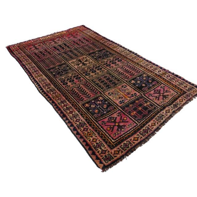 Vintage Persian Hamedan Wool Rug - 4′2″ × 7′7″ - Image 5 of 5