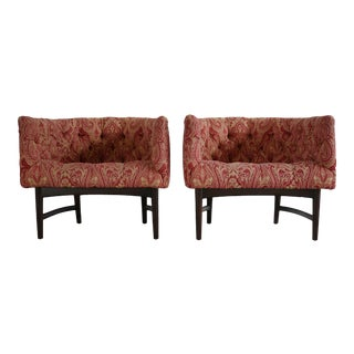 Pair of Compact Lounge Chairs by Milo Baughman For Sale