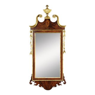 New York Federal Giltwood And Mahogany Giltwood Mirror