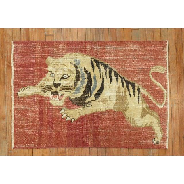 Vintage Turkish Tiger Rug , 2'6'' X 3'9'' For Sale In New York - Image 6 of 6