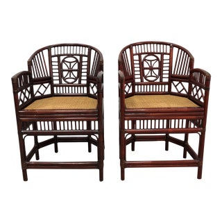 Vintage Chinese Style Bamboo Chairs - A Pair