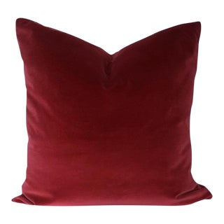 Ruby Lane Red Velvet Pillow