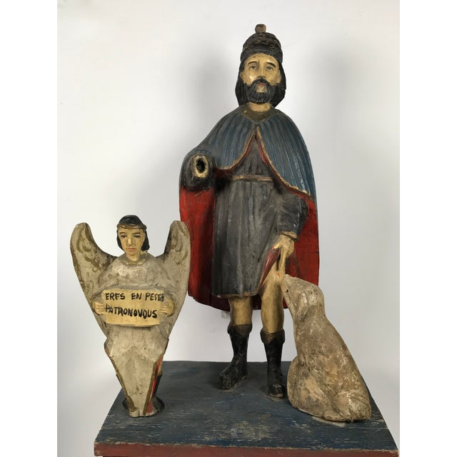 19th C. Carved Saint Roch Sculpture For Sale - Image 4 of 6