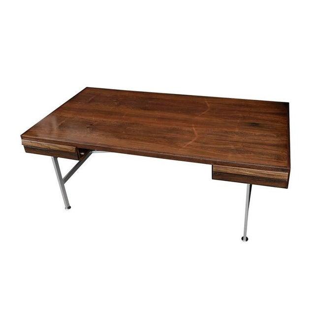 Illum Wikkelsø Illum Wikkelsø Rosewood Desk For Sale - Image 4 of 10