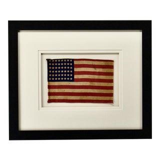 1940s Vintage WWII Era 48 Star Flag, Framed For Sale