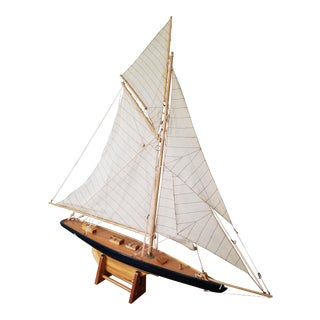 Antique Sloop Sailboat Model