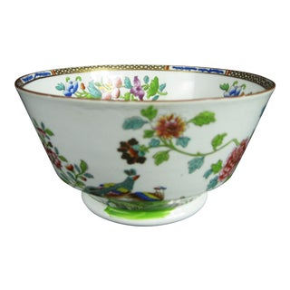 Early 19thc. Josiah Spode Peacock Bowl - Hand Painted - England For Sale