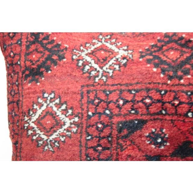 Textile Home Decor Vintage Carpet Pillow For Sale - Image 7 of 9