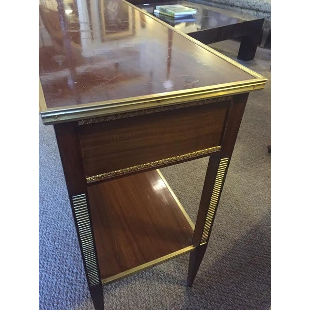 Two Drawer Bronze Mounted Console Tables - Pair - Image 8 of 8