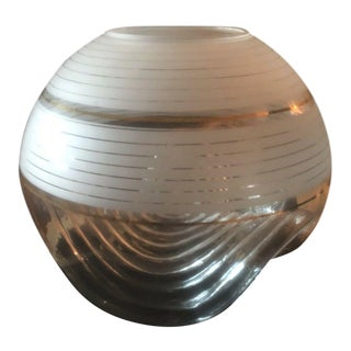 Murano Glass Anthropomorphic Glass Vase by Mazzega Italy For Sale