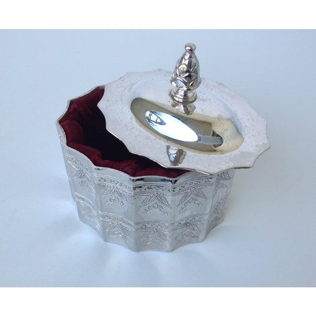 Silverplate Moorish Lidded Keepsake Box - Image 6 of 9