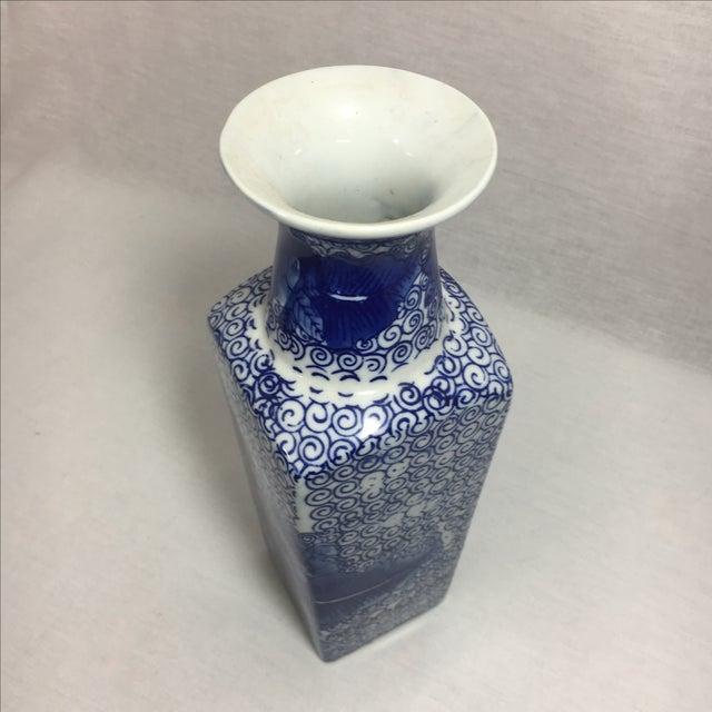 Blue & White Chinoiserie Vase - Image 5 of 6