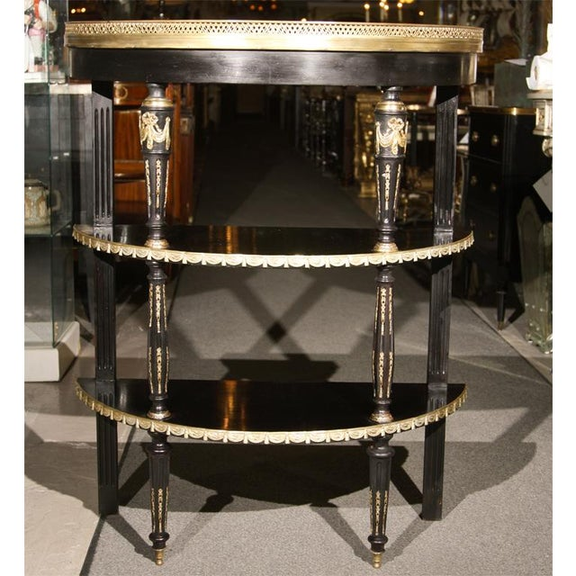 Maison Jansen Three tier Desert Stand. This finest Three tier demi lune each having bronze swags forming a well...