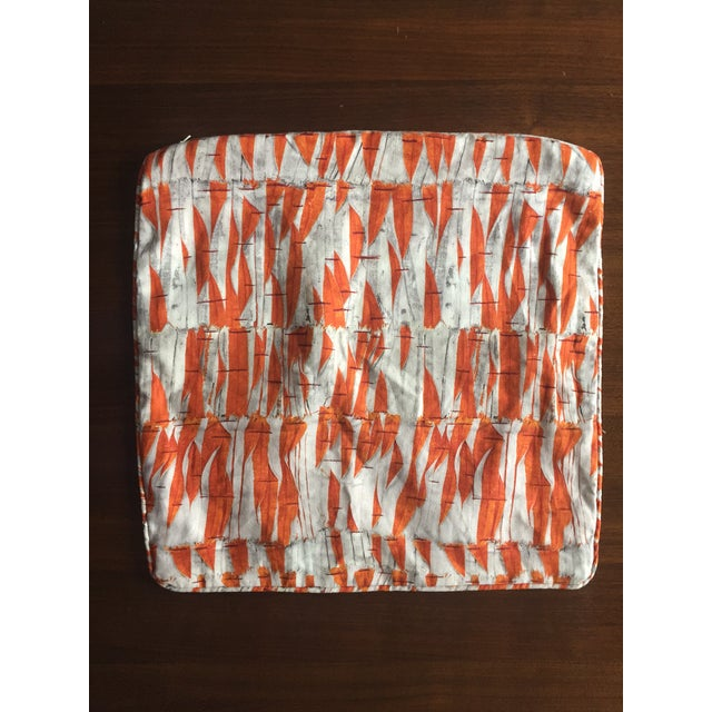 Modern Holland & Sherry Christopher Farr Willow Orange Pillow Cover For Sale - Image 3 of 3