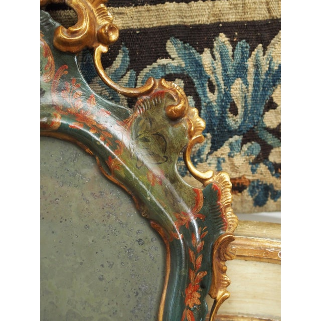 Early 19th Century PETIT VENETIAN LACCA POVERA MIRROR For Sale - Image 5 of 8