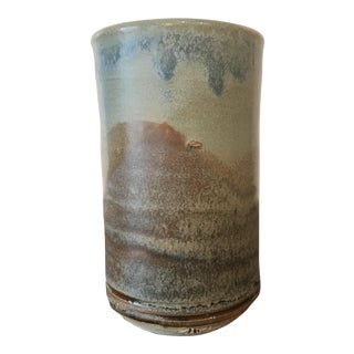 Brown and Blue Studio Pottery Tumbler