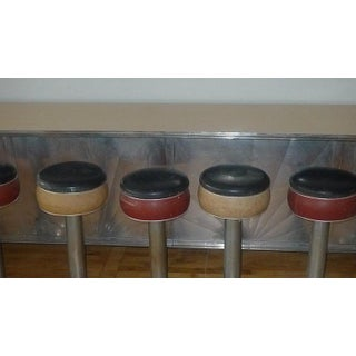 Counter From 1930s Soda Fountain Diner With Nine Swivel Stools, Art Deco Preview
