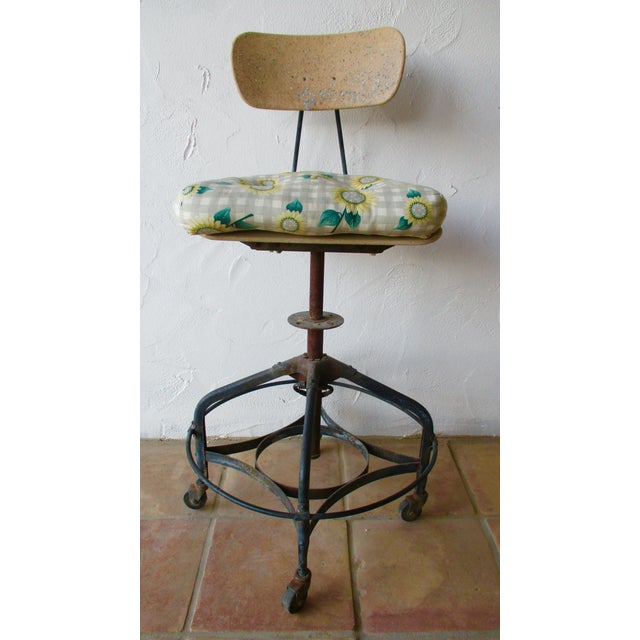 Vintage Toledo Stool With Cushion For Sale - Image 5 of 11