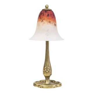 1920's French Art Deco Charles Schneider Bronze Table Lamp For Sale