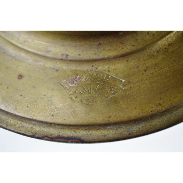 Early Brass Pear Shaped Russian Samovar Marked For Sale - Image 9 of 11