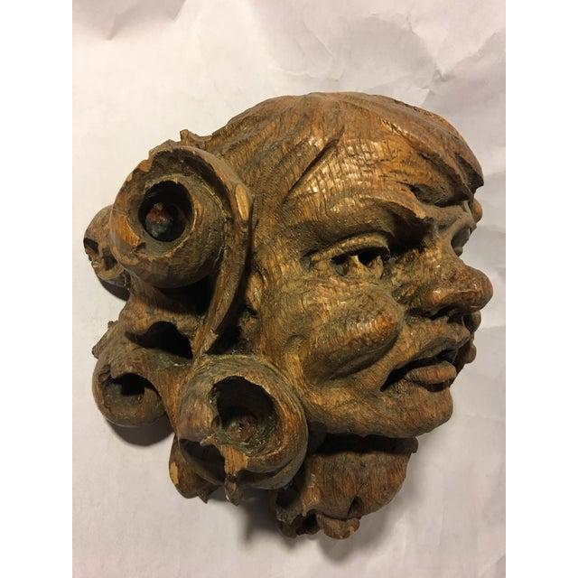German Carved Oak Gargoyle - Image 4 of 9