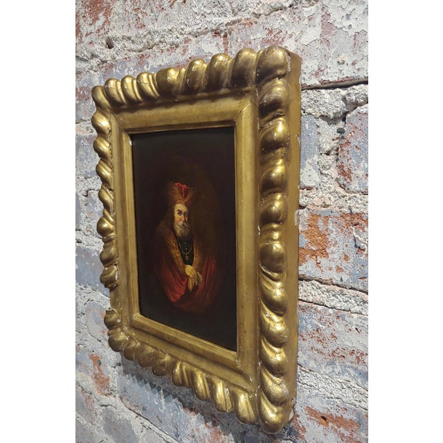 Portrait of a Monarch -18th Century Flemish Oil Painting For Sale In Los Angeles - Image 6 of 8