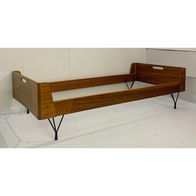 Wood Pair of Beds by Rima and Designed by Gaston Rinaldi - Italy 1950s For Sale - Image 7 of 8