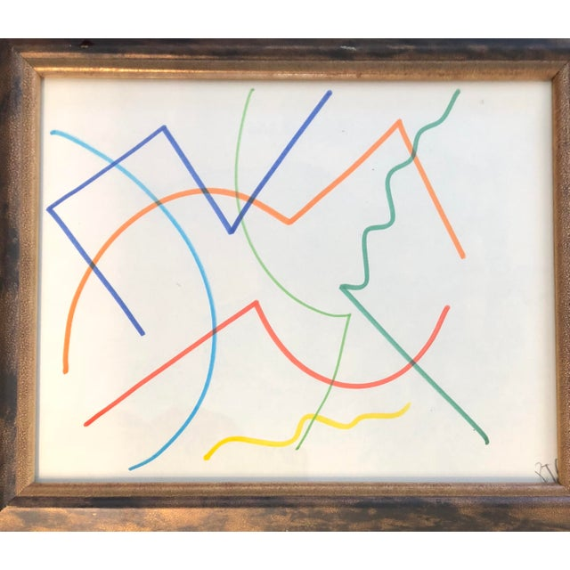 Abstract Original Vintage Colored Marker Abstract Drawings Robert Cooke 1970's For Sale - Image 3 of 5
