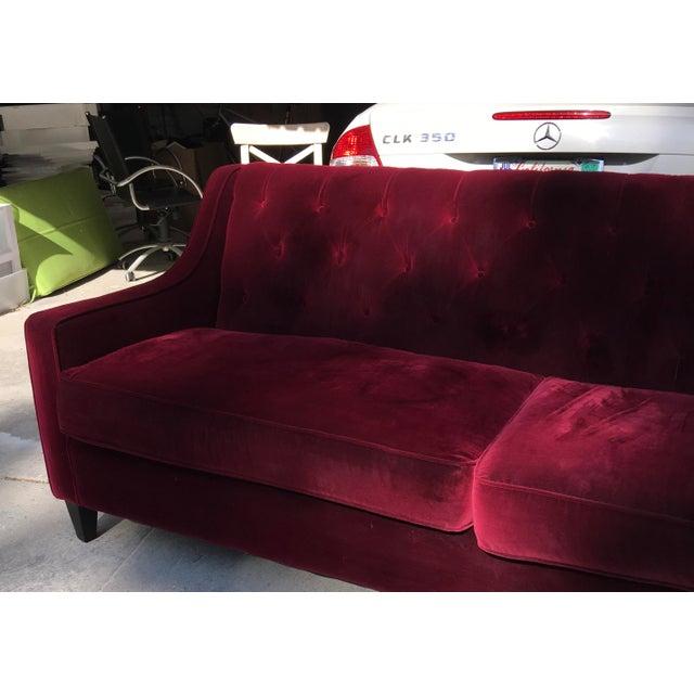 Hollywood Regency Style Velvet Sofa - Image 3 of 11