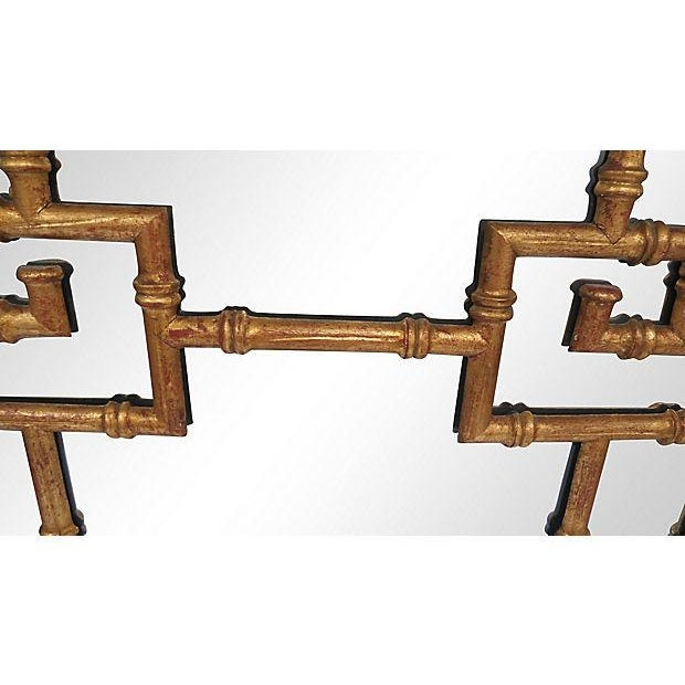 Asian La Barge Gold-Leaf Faux Bamboo Wall Mirror For Sale - Image 3 of 5