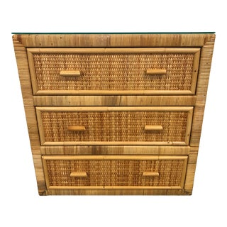 20th Century Woven Rattan Chest For Sale