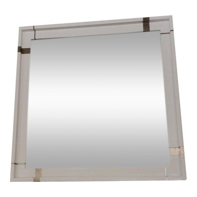 Laura Kirar White Lacquer Mirror - Image 1 of 7