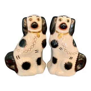 Early Staffordshire Dog Figurines - a Pair For Sale