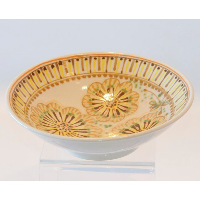 Mid-Century Janet Rothman Floral Bowl - Image 10 of 11