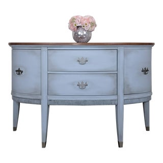 Vintage Demi-Lune Coastal Cottage Sideboard or Buffet For Sale
