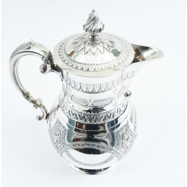 Silver English Silver Plate Ornate Detailed Tea / Coffee Pot For Sale - Image 8 of 10