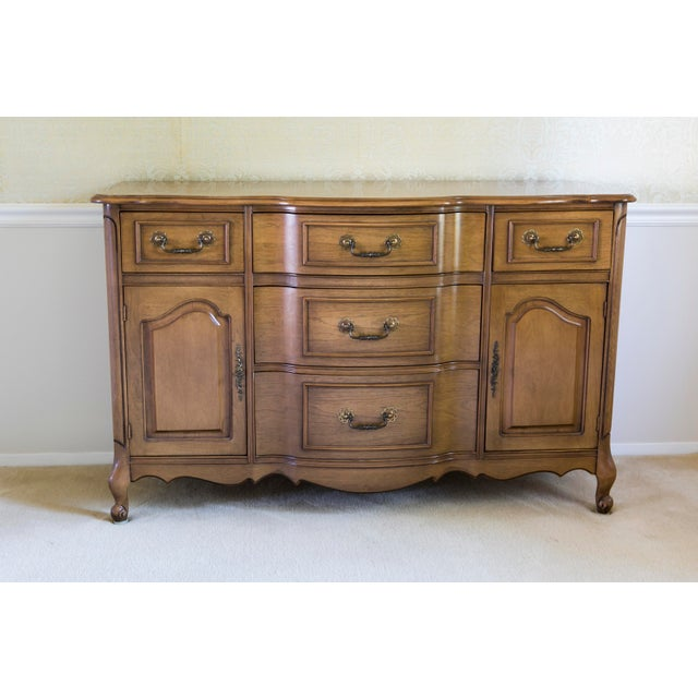 Traditional 1960s Traditional Bennett Co. Wooden Dining Room Buffet For Sale - Image 3 of 3