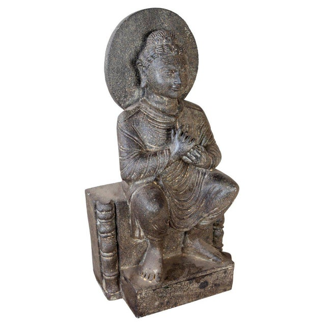 A rare find and becoming impossible to get, an early 1900s, full-body granite Buddha. The hand mudra here is Dharmachakra,...