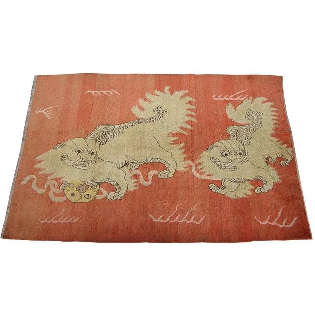 C. 1900s Antique Handmade Samarkand Rug - 5′7″ × 8′3″ For Sale