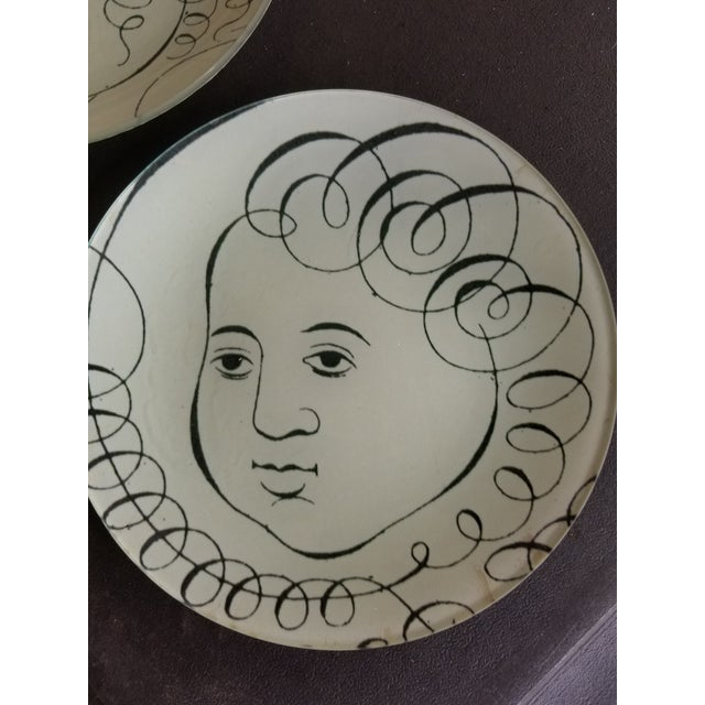 1980s John Derian Glass Plates - a Pair For Sale - Image 5 of 7