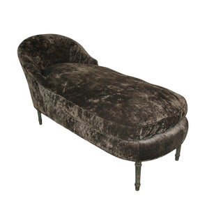 1940s Vintage Louis XV Style Chaise Longue For Sale