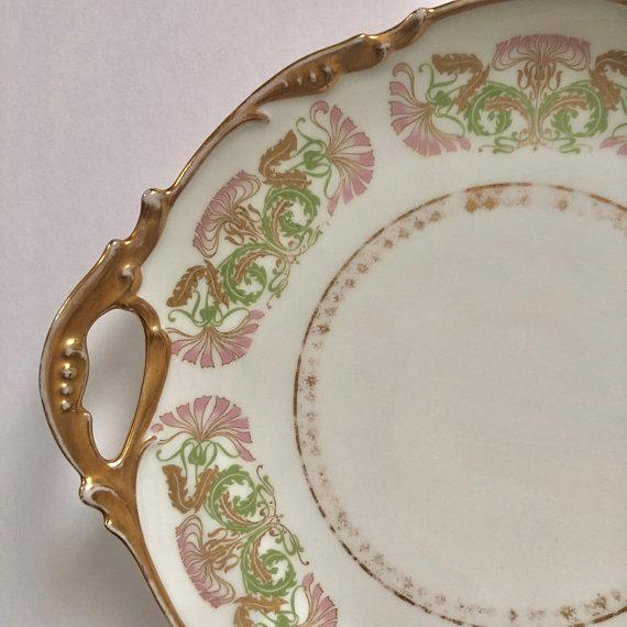 Ceramic Antique Jean Pouyat Limoges Plate For Sale - Image 7 of 11