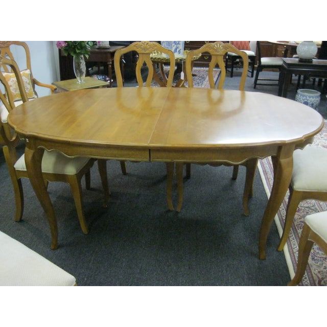 Ethan Allen French Country Dining Set - Image 3 of 8