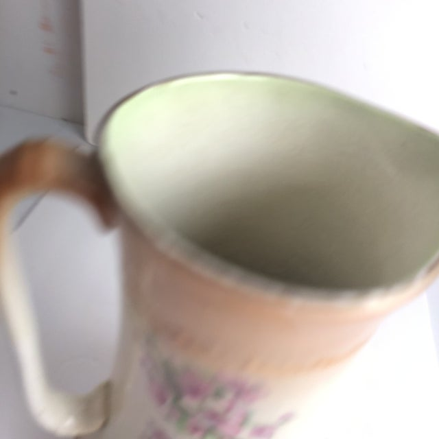 Hand Painted Floral Pitcher For Sale - Image 9 of 13