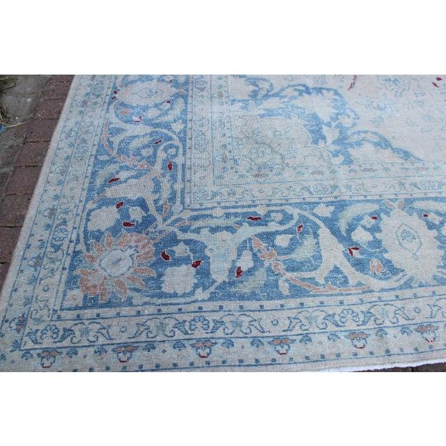 1920s Vintage Tabriz Wool Rug - 10′ × 14′1″ For Sale - Image 5 of 10