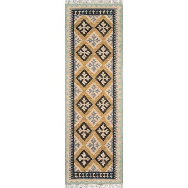 "2010s Momeni Caravan Hand Woven Gold Wool Area Rug - 3'9"" X 5'9"" For Sale - Image 5 of 6"