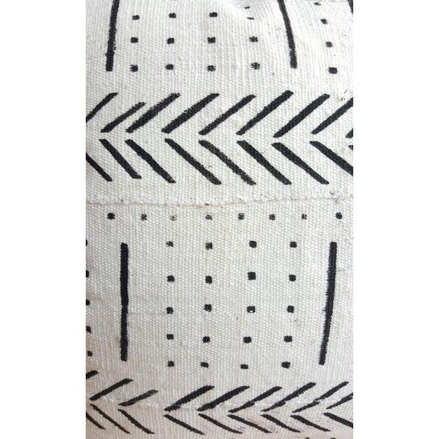 White African Mud Cloth Lumbar Pillows - A Pair - Image 2 of 4