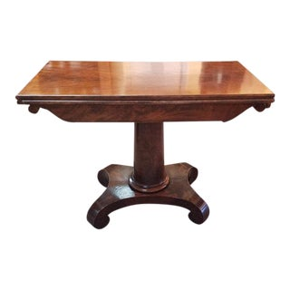 C.1830 William IV Mahogany Console & Games Table For Sale