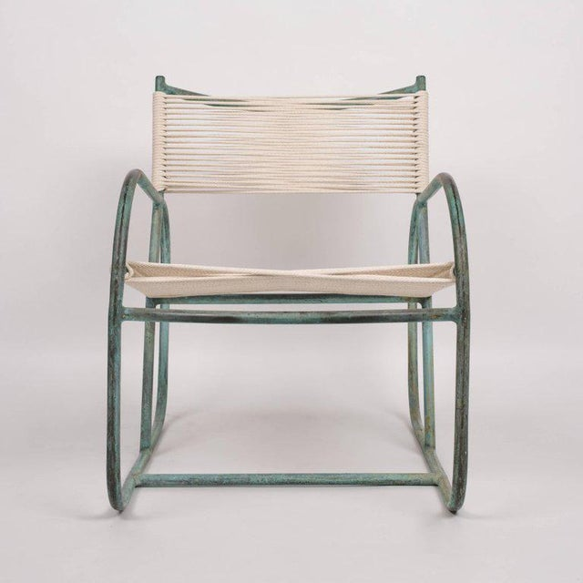 Bronze Early Model Walter Lamb Lounge Chair For Sale - Image 7 of 9